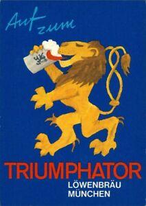 Ansichtskarte  Künstlerkarte Löwenbräu auf zum Triumphator 1979
