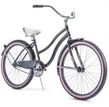 "Huffy 26"" Cranbrook Women's Cruiser Bike with Perfect Fit Frame Black Pink"