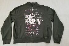 UK Style French Connection XL Gray Cotton Polyester Guitar Player