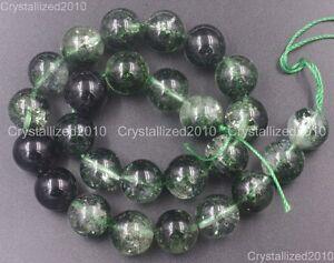 "Natural Crystal Quartz Rock Gemstone Round Beads 4mm 6mm 8mm Green Chlorite 16"""