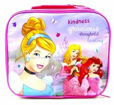 DISNEY PRINCESS THERMAL INSULATED LUNCH BAG BOX KIDS PICNIC SCHOOL PRINCESSES