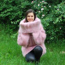 Hand Knitted Mohair SWEATER Fuzzy Soft  Handgesrickte Cowl Neck Dress by SSEu