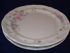 Pfaltzgraff Stoneware Perennials Tea Rose Set of 2 Dinner Plates USA