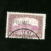 Fiume Stamps # 20 VF Used Signed Catalog Value $3,250.00