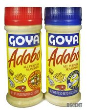 2Pack Goya Adobo All Purpose Seasoning 1 with Pepper, 1 Without Pepper 8 oz each