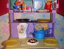 Barbie Doll Kitchen Dining Room Donuts Sandwich Playfood Dishes Accessories Lot