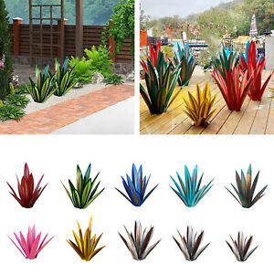 Tequila Rustic Sculpture DIY Metal Decorative Agave Plant Hand Painted Decor