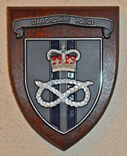 Staffordshire Police mess wall plaque shield crest Constabulary