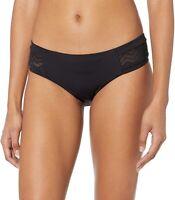 Seafolly 253388 Women's Hipster Bikini Bottom Swimwear Black Size 10