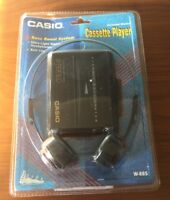 New Casio Personal Stereo Cassette W/ Headphones Model W-885 Sealed