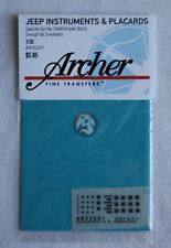 Archer 1/35 Willys MB Jeep Instruments & Placards (Tamiya) (3 vehicles) AR35241