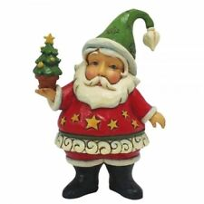 Jim Shore Heartwood Creek Mini Santa Holding Christmas Tree Ornament 4058810
