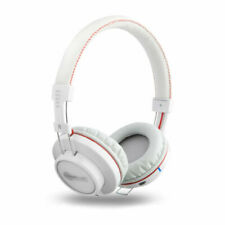 NoiseHush Freedom BT700 Bluetooth Headphones with Mic - White