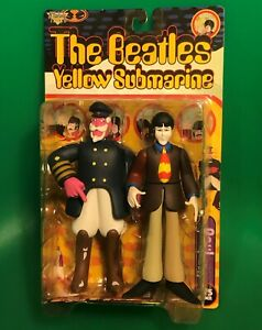 The Beatles Yellow Submarine Paul w/ Captain Fred McFarlane Toy Figure 1999 NEW