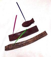 PALM/ROSE Wood Incense Stick Burner Ash Catcher Holder Stand Thai Handmade