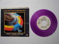 "Electric Light Orchestra Elo 1977 Sweet Talkin' Woman 7"" 45 Wlp/Ylp Purple Vinyl"