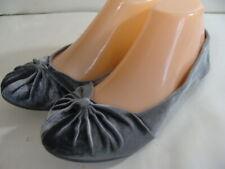 EUC  Rocket Dog Women's  Ballet Flats Gray Velvet Shoes  7.5 M
