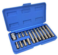 15-tlg Steckschlüssel Satz Innensechskant HEX Bit Box Imbus Set Einsatz 4-12 mm