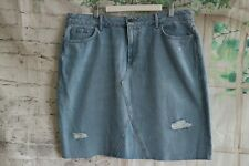 Women's NEW LOOK Short Blue Denim Skirt - UK18 EU46