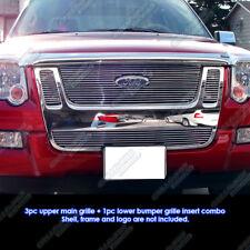 Custom Fits 07-10 Ford Explorer Sport Trac Billet Grill Combo