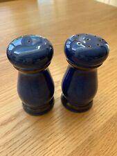 Denby Imperial Blue Salt and Pepper Pots