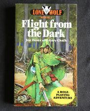 Lone Wolf - Flight From The Dark - Joe Dever & Gary Chalk Book 1. 1st Print 1984