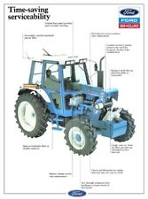 FORD TRACTOR 6410 SERVICE CHART NEW HOLLAND SALES BROCHURE/POSTER ADVERT A3