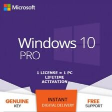 WINDOWS 10 PRO Genuine Licence key Online Activation 32/64 BIT
