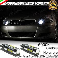 COPPIA LUCI POSIZIONE 10 LED TOYOTA YARIS MK1 T10 W5W CANBUS 100% NO ERROR