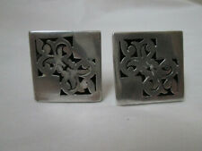 Vintage Mexico Sterling Cuff Links Signed 925 HECHO EN MEXICO RKK STERLING 10.8G