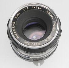 Nikon 5cm f2 Tick-Mark pat.pend  #523764  ........... Rare !!