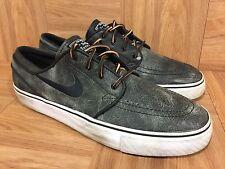 RARE🔥 Nike Zoom Stefan Janoski Black Distressed Leather Sz 9 375361-002 Aged LE
