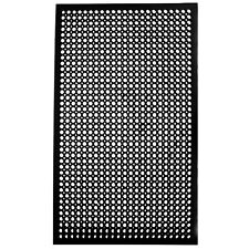 Cactus Mat 2530-C5BX 36' x 60' Black Rubber Restaurant Kitchen Floor Mat