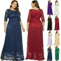 Plus Size Women's A-Line Cocktail Party Wedding Evening Formal Lace Long Dresses