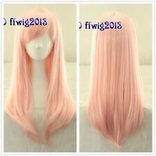 Elfen Lied Anime Long Light Pink straight Cosplay Wig Lovely girl+a wig cap