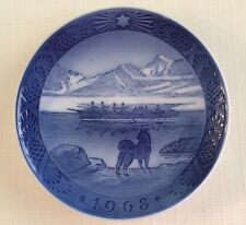"Royal Copenhagen 1968 ""The Last Umiak"" Collector Plate"