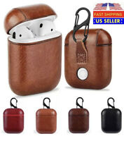 Luxury AirPods Case Leather Protective Cover Shockproof For Apple AirPod Pro 1 2