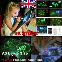 A3 Draw With Light Fun Drawing Board Developing Toy Kid Education Magic Painting