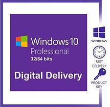 Microsoft Windows 10 Pro Professional Activation Key 32/64bit 🔥✅INSTANT DELIVER
