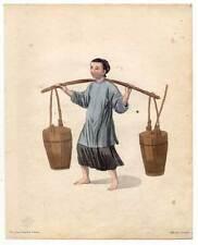 China-Chinesen-Bauersfrau Kupferstich Dadley 1800 Ethnologie-Chinesin