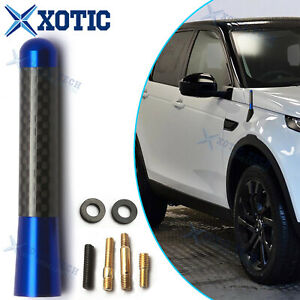 For Toyota Camry 86 3'' Blue Real Carbon Fiber Aluminum Short Screw-On Antenna