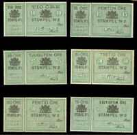 Sweden Collection MNH/Used CV$300.00 REVENUES 1880 10o-75o DOCUMENTARY