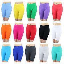 Radlerhose Damen Sport Shorts Baumwolle Hotpants Kurze Leggings Bunte Farben