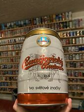 """5 Liter Budweiser Budvar Beer Can/Keg From Czech Republic """"Pivo Světové Zna�ky�"""