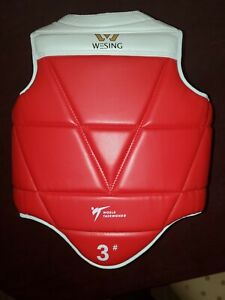 WESING TaeKwonDo Reversible Chest Guard WTF / KTA Approved Protector BLUE RED