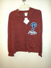 MLB Philadelphia Phillies Full Zip  Light Weight Jacket Women Majestic (XL)