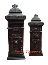 STUNNING Tall Boy LETTERBOX Feature in New Cast Iron - AUST-ONLY Black/Bronze