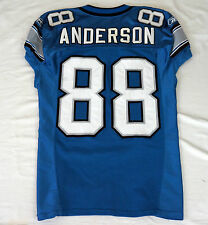 #88 Scotty Anderson Authentic Game Issued/Player Worn Detroit Lions Jersey