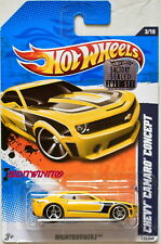 HOT WHEELS 2011 NIGHTBURNERZ CHEVY CAMARO CONCEPT YELLOW FACTORY SEALED W+