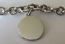 Sterling Silver Hanging Circle Bracelet by B.A. Ballou, 7.5 In., New In Box